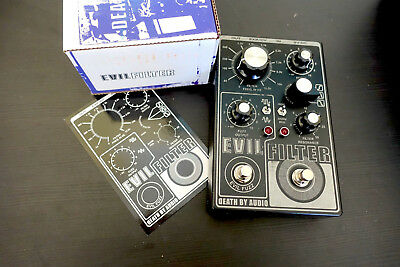 Death By Audio Evil Filter fuzz wah guitar effect pedal Mint