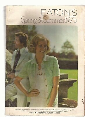 Eaton's Spring & Summer 1975 Catalog in EX condition 804 pages