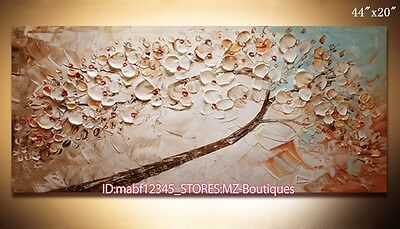 "YH729 44""X20""Hand painted Oil Canvas Wall Art home Decor abstract tree NO Frame"