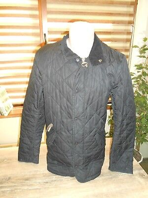 Men's Barbour Chelsea Sportsquilt black Jacket Size XS (fits like a small)