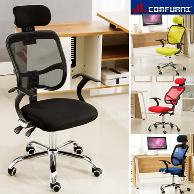 Ergonomic Mesh Office Chair Adjustable Executive High Back Swivel Fabric Chrome