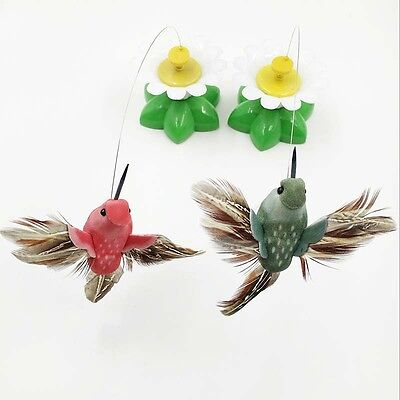 Pet Kitten Electric Rotating Flying Bird Flower Cat Teaser Wire Interactive Toys