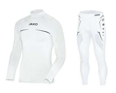 JAKO Kinder Turtleneck Funktionsunterwäsche Set Ski Thermo Comfort weiß 116-176