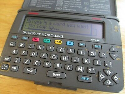 Franklin Bookman Electronic Dictionary & Thesaurus MWD-440 *No Cartridges*