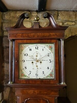 A superb Georgian Mahogany & Inlaid Grandfather Longcase Clock C1800