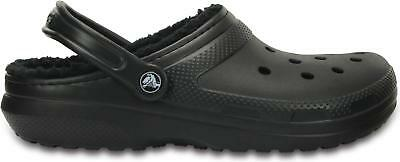 Crocs 203591 CLASSIC LINED Slip On Warm lined Unisex Clogs Black