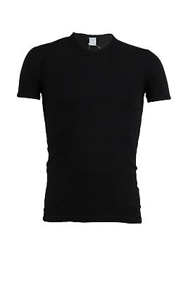 Sky T-Shirt T-shirt sottogiacca uomo collo a V nera Muscle fit