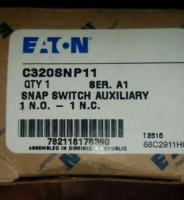 EATON CUTLER HAMMER C320SNP11 Series A1 Snap Switch Auxiliary Contact