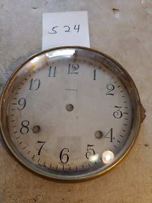 Antique Ansonia Mantle Clock Dial And Bezel With Glass