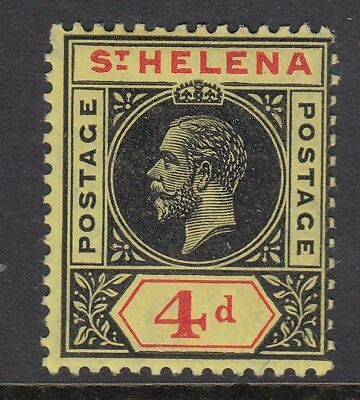 ST. HELENA SG85, 4d black & red/yellow - mounted mint