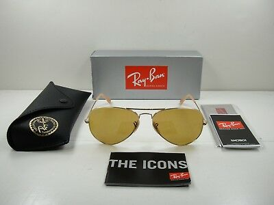 6179c5dc0 Ray-Ban Aviator Evolve Sunglasses Rb3025 90644I Gold/brown Photochromic 58Mm