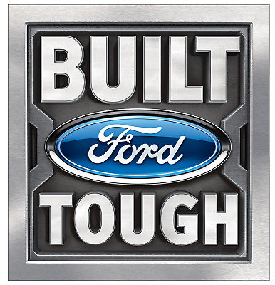 Ford Genuine Parts 12x12 inch BUILT TOUGH Metal Sign NEW