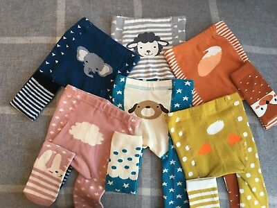 Baby & Toddler Knitted Animal Footless Leggings/ Tights **FREE P&P* *UK SELLER**
