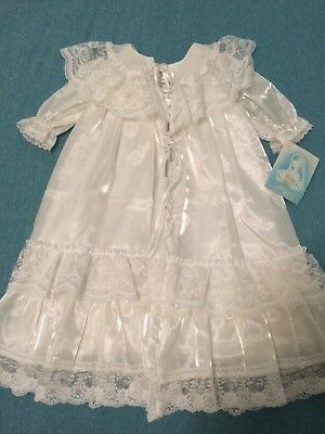 NWT~Vtg Infant Baptism Gown Coat Lace Christening 6-9 Mos by Madonna~Made in USA