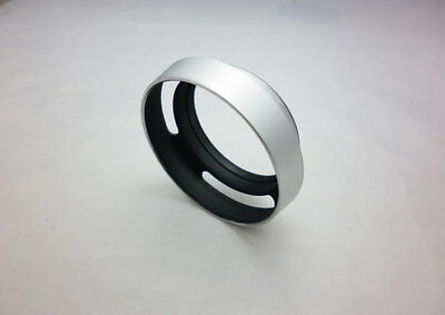 NEW 46mm metal lens hood cover for Leica(M) camera  silver