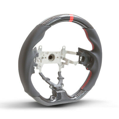 Hydro Carbon Steering Wheel w/ Red Centering Stripe For 2012-2015 Honda Civic