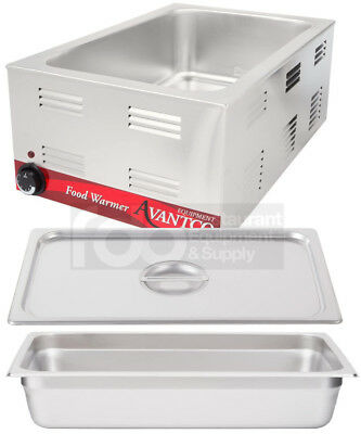 "FULL SIZE Electric WITH 4"" PAN & LID Countertop Buffet Food Warmer Commercial"