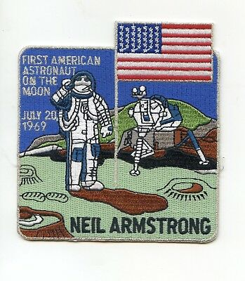 """Neil Armstrong 4"""" First American on the Moon Patch - Rare"""