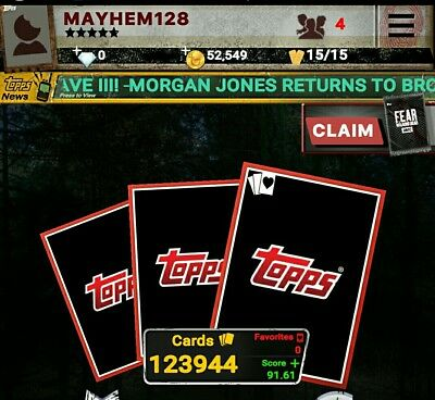 Topp The Walking Dead Digital Trader Cards. All cards  $1.00 each. No limit