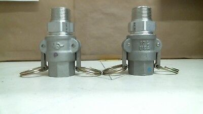 Lot Of 2 Pt 10 D, Coupling Cam Lock Fitting