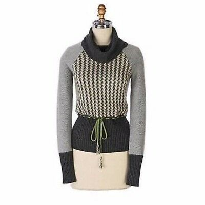 2585fb74b0 NEW ANTHROPOLOGIE SPARROW Cowled Sweater Dress Gray Grey Sz S Cozy ...