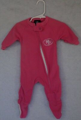 Baby Girl Infant San Francisco 49ers NFL Team Apparel Footed 0-3 months 5b911e18b