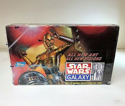 Star Wars Galaxy Series 2 II Two - Sealed Trading Card Hobby Box - Topps 1994