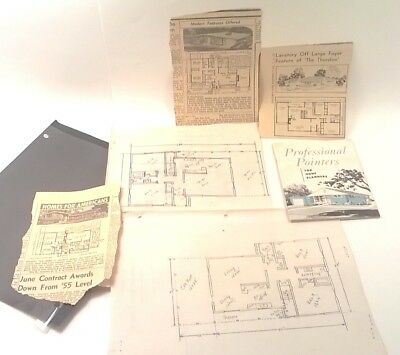 Lot Vintage Professional Pointers Home Planners House Book Plans News Pandora OH