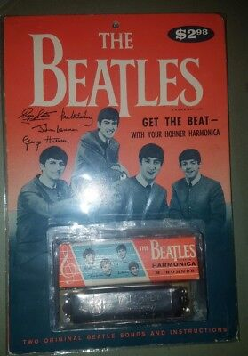 The Beatles Original Vintage M. Hohner Harmonica W/box & Original Packaging