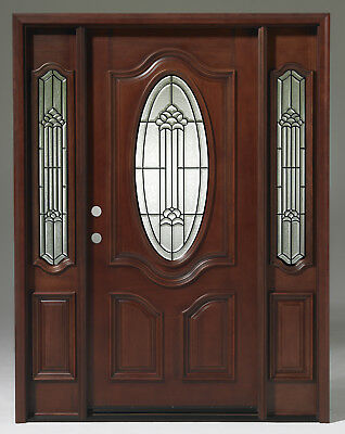 SALE! Solid Wood Mahogany Pre-hung& Finished TMH7350-GL02