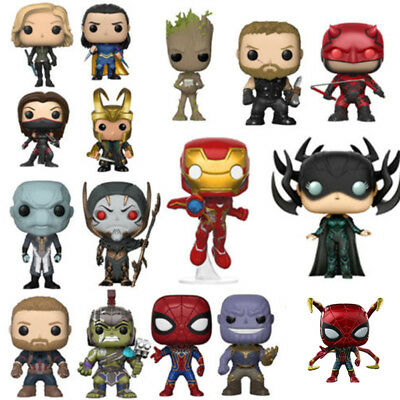 Funko Pop! Avengers Ant Thony Thanos Ironman Thor Spiderman Figura de Acción