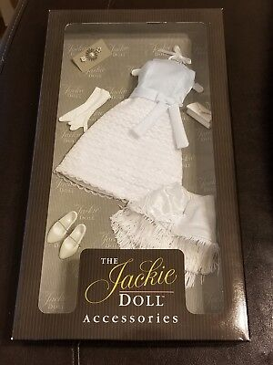 New Franklin Mint The Jackie Doll Accessories Blue & White Gown Visit To Mexico