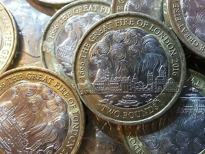 2016 £2 Two Pound Coin. FIRE OF LONDON. Great Fire. Circulated.
