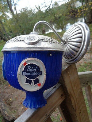 Vintage Retro Pabst Blue Ribbon Beer Light Wall Sconce Mount Bar Light ADVERTISE
