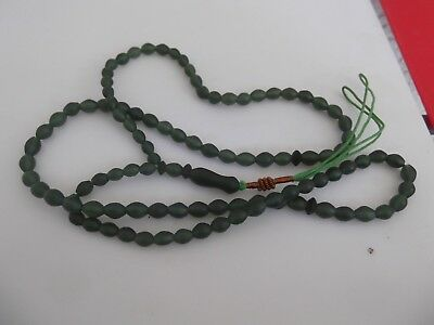 NEW SHAH MAGHSOUD - c olive green  prayer beads / Tasbih