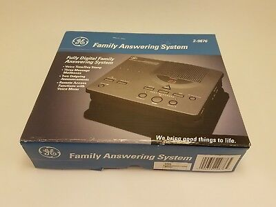 GE General Electric Family Answering machine model# 2 - 9876