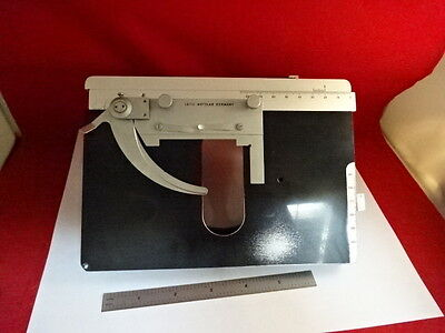 Leitz Germany Stage Specimen Table Micrometer Microscope Part As Is #86-07