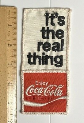 "Coke Coca Cola It's the Real Thing 5.5"" Tall Embroidered Soda Pop Patch Badge"