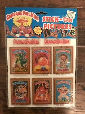 1986 Imperial Topps GARBAGE PAIL KIDS Stick-On Pictures PUFFY STICKERS #1, NEW!