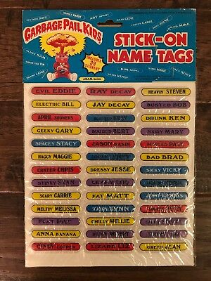 "1986 Imperial ""GARBAGE PAIL KIDS"" (Stick-On Name Tags) ""PUFFY STICKERS"" #2, NEW!"