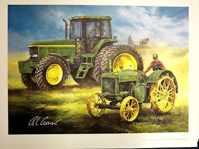 JOHN DEERE TRACTOR ART by RAY CROUSE - KEEPING THE PROMISE - SIGNED PRINT ONLY