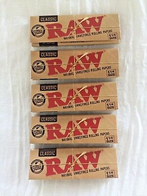 Raw 3 Packs 1.25 (1-1/4) Classic Rolling Papers FREE SAME DAY SHIPPING