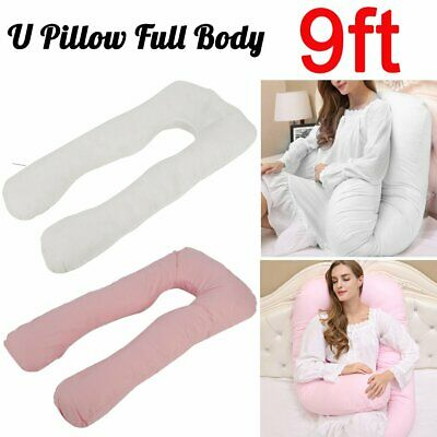 9ft Full Body Pillow and/or Cover Case U Shape Maternity Pregnancy Belly Support