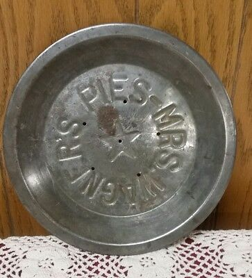 "Antique Mrs. Wagner's Pies ""star"" Metal Pie Plate"