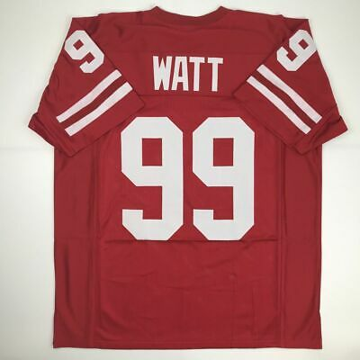 2c4ea1f7b New JJ J.J. WATT Wisconsin Red College Custom Stitched Football Jersey  Men's XL