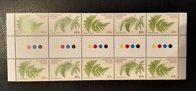 2012 Christmas Island Stamps - Ferns - Gutter Strip - MNH