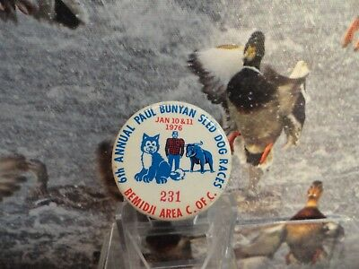 BEMIDJI AREA PAUL BUNYAN SLED DOG RACES Jan 10-11 1976 CofC