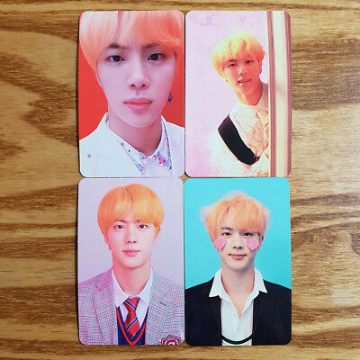 Jin Official Photocard 4pcs Set BTS Love Yourself Answer Genuine Kpop