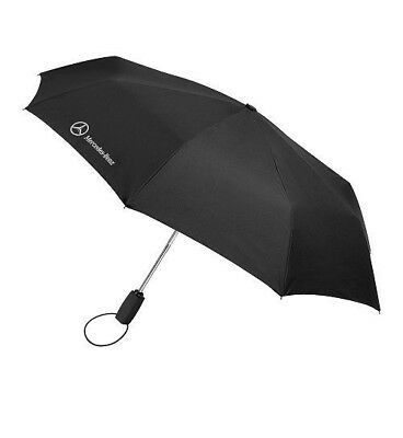 Mercedes-Benz Folding Pocket Black Umbrella Automatic  Genuine New