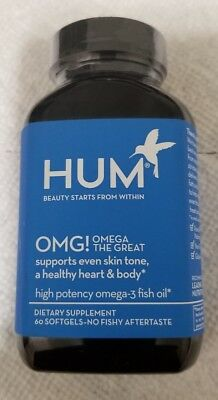HUM Nutrition - OMG! Omega the Great - Pure + Sustainable Fish Oil 06/2020
